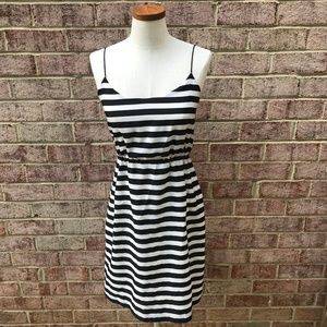 J. Crew Factory Striped Blouson Tank Dress